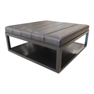 Vanguard Furniture Leather Cocktail Ottoman For Sale