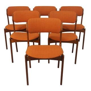 Erik Buch Danish Modern Teak Dining Chairs - 6