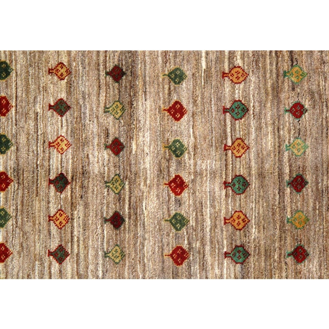 """Traditional Pasargad N Y Persian Gabbeh Rug - 3′4″ × 4′8"""" For Sale - Image 4 of 5"""