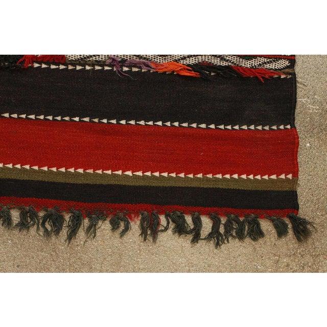 Red Vintage Moroccan Tribal Kilim Rug North Africa For Sale - Image 8 of 10