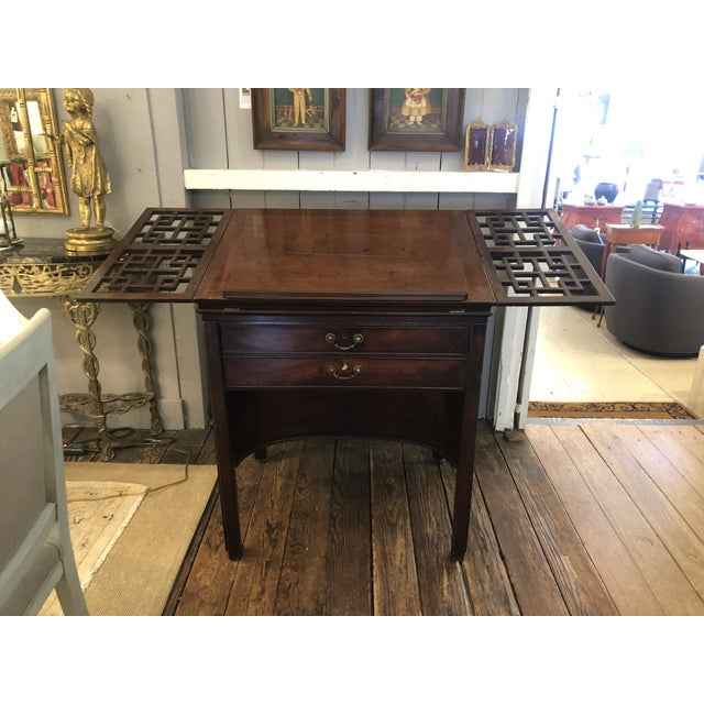 Mid 19th Century Rare 19th Century Mahogany Mechanical Architect's Desk For Sale - Image 5 of 13