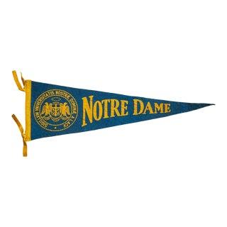 Notre Dame University Felt Flag