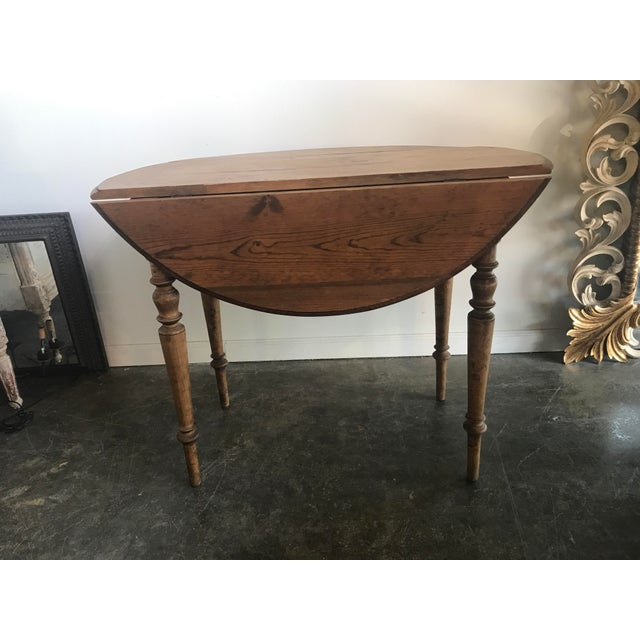 Double Drop Leaf Antique Pine Table For Sale In Washington DC - Image 6 of 9