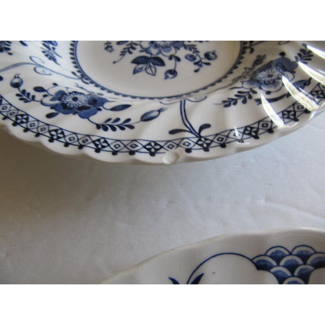 Blue & White Transfer-Ware Plates- 8 Pieces For Sale - Image 4 of 6