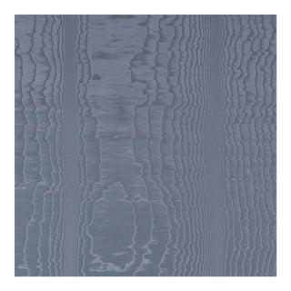 Schumacher Moire Wallpaper in Ocean For Sale