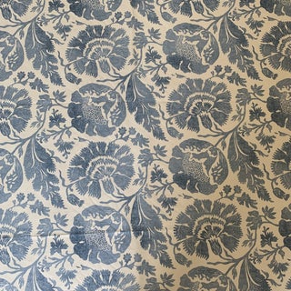3 3/4 Yards G. P. & J. Baker Poppies Printed Linen Fabric For Sale
