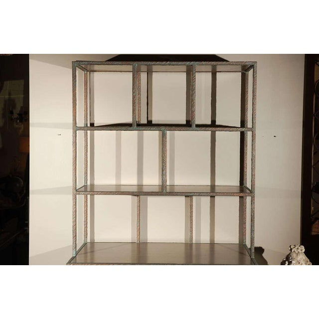 Modern Paul Marra Bookcase in Faux Bronze For Sale - Image 3 of 8