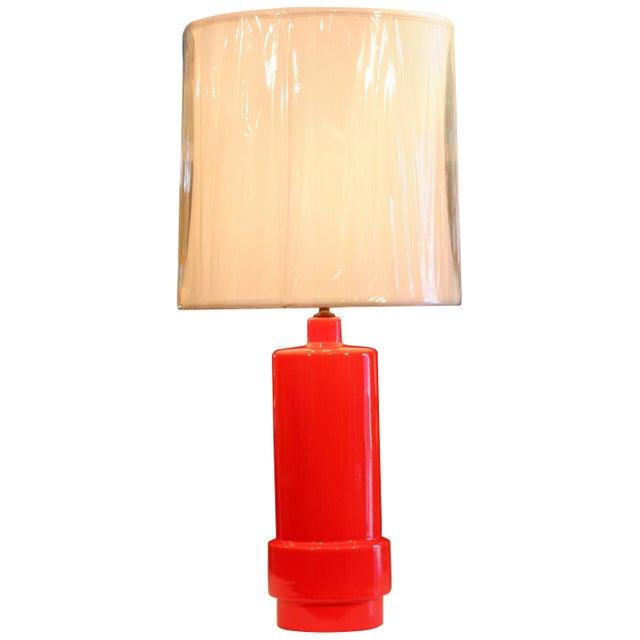 Orange Vintage 1960s Atomic Orange Lamp Mad Men For Sale - Image 8 of 8