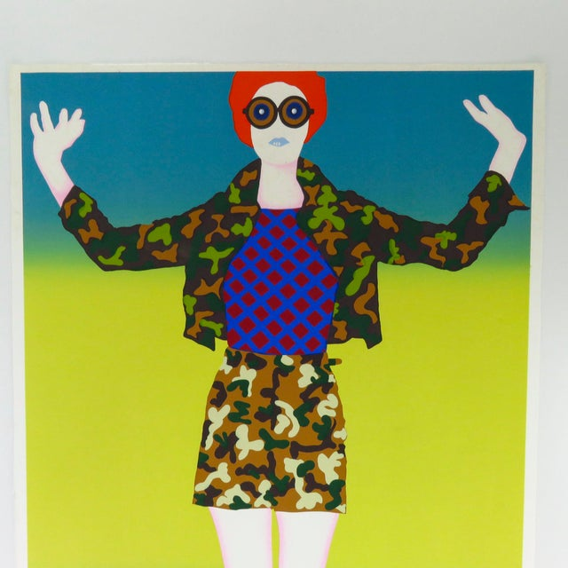 Original silkscreen fine art print 29 of 200. Hand numbered, titled and signed by artist in pencil.