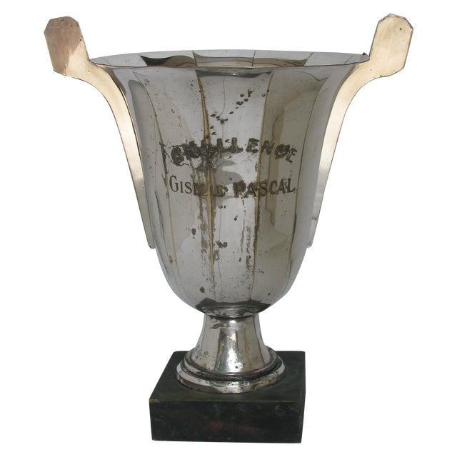 Very Large French Vintage Silver Urn Trophy Chairish
