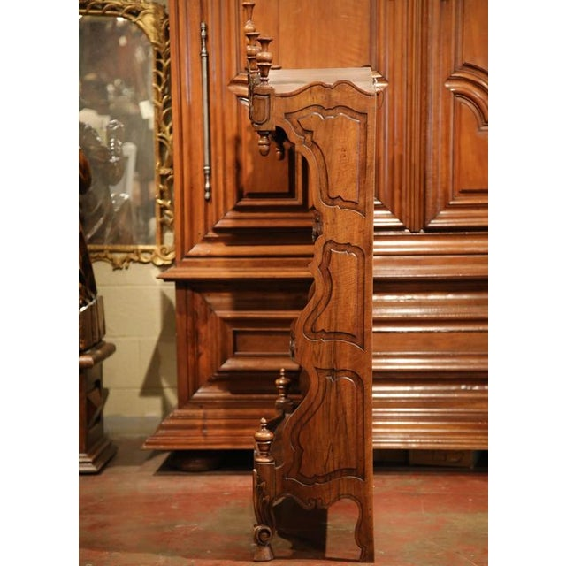 19th Century French Louis XV Carved Walnut Estanier Shelf For Sale - Image 9 of 10