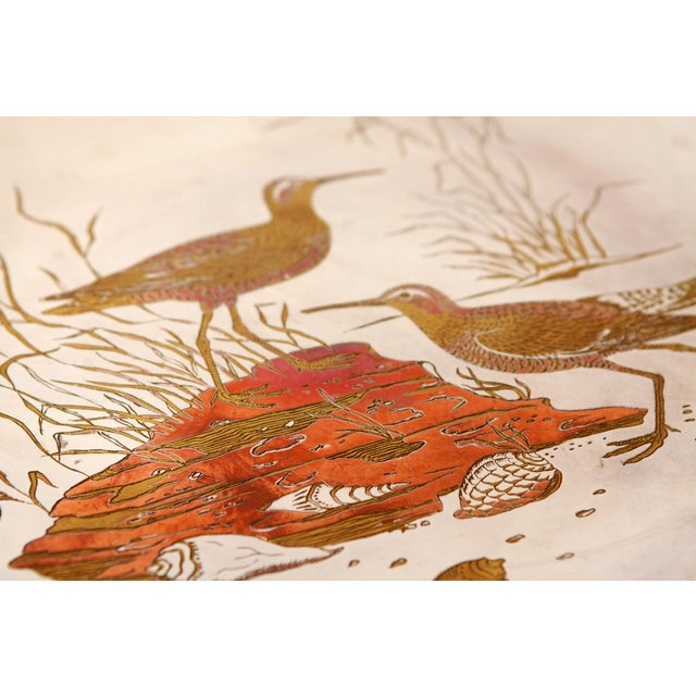 Metal Silver Plated Mixed Metal Brass & Copper Audubon Plates for Tiffany & Co. - a Pair For Sale - Image 7 of 12