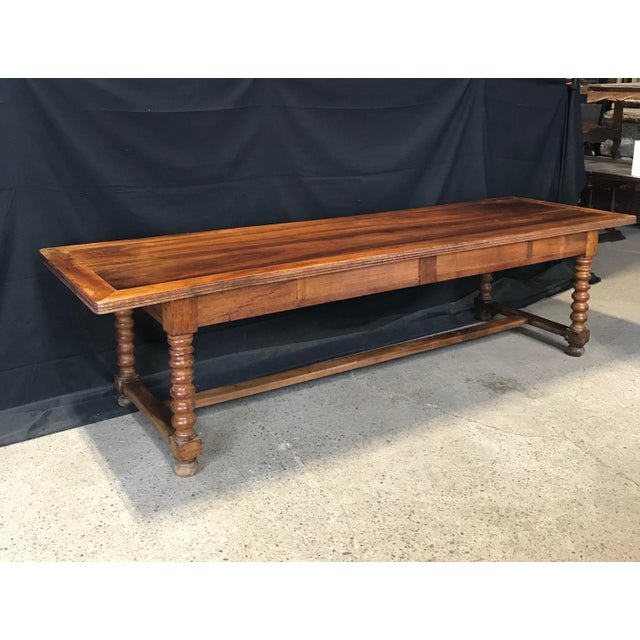 Antique French 19th Century Walnut Dining Table For Sale - Image 4 of 13
