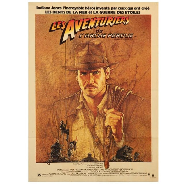 Lost Ark French Hunter Movie poster by Richard Amsel, 1981 For Sale - Image 4 of 4