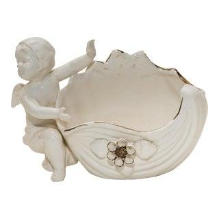 Vintage Porcelain Cherub Vase by Lenwile Ardalt Artware