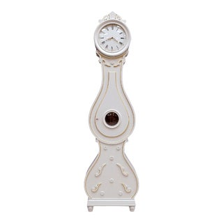 Vintage Swedish Mora White Clock For Sale