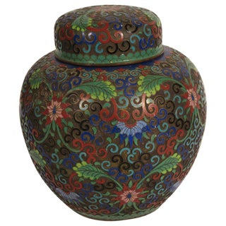 1910 Cloisonné Jar With Lid For Sale