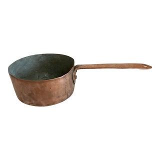 20th Century Rustic Copper Pot For Sale