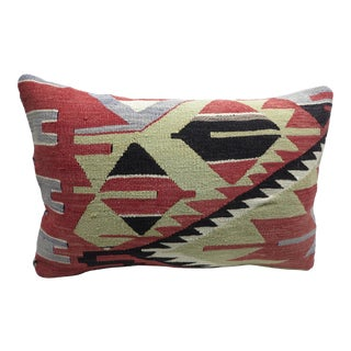 Vintage Turkish Kilim Rug Pillow Cover For Sale