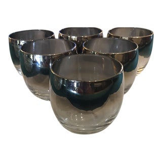 Mid-20th Century Dorothy Thorpe Silver Fade Highball Tumblers - Set of 6 For Sale