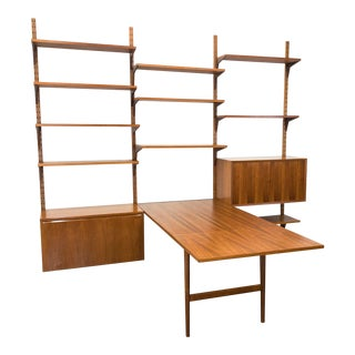 Danish Cado Wall Unit by Poul Cadovious With Desk/Table For Sale