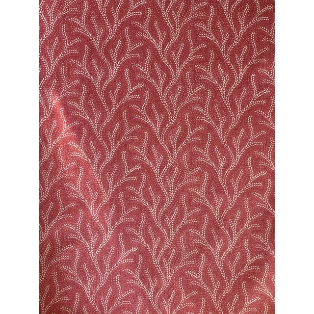 2020s Jane Shelton Screen Print Linen Fabric Holly 3 1/2 Yards For Sale - Image 5 of 5