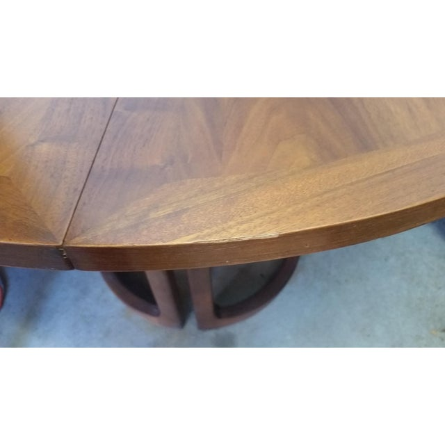 Lane Rhythm Round Dining Table Leaf Pads For Sale - Image 5 of 11