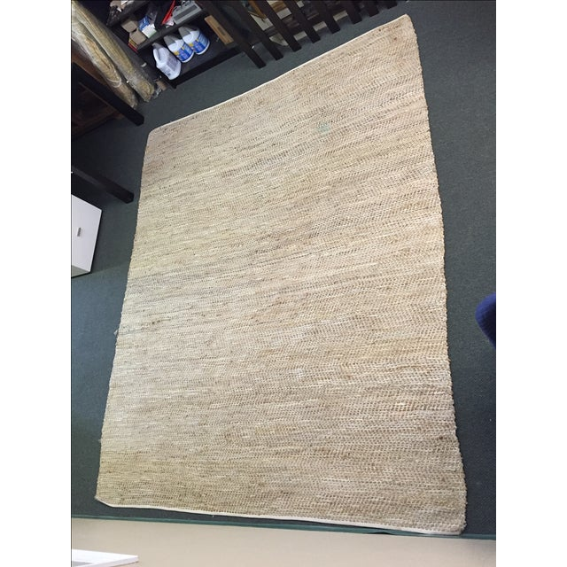 Leather & Fiber Woven Rug - 8′ × 10′ - Image 2 of 7