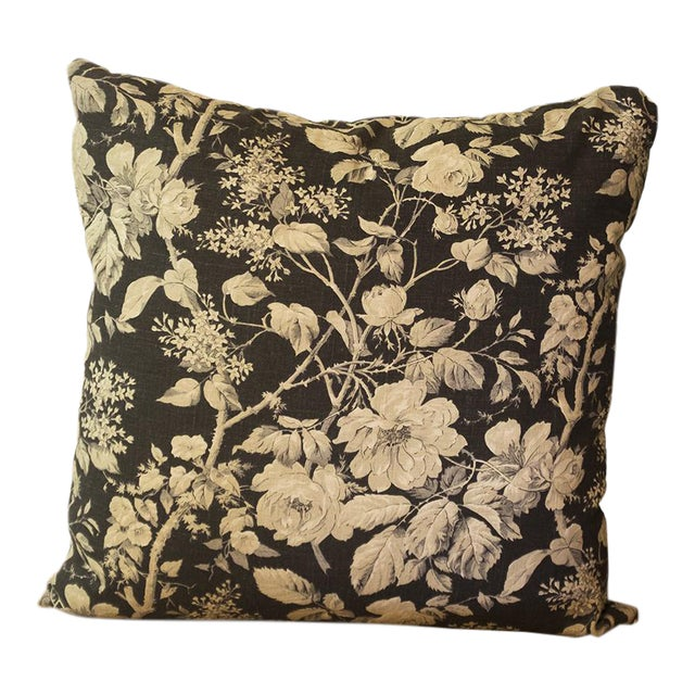 Ralph Lauren Floral Linen Pillow Cover For Sale