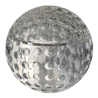 Vintage Lucite Sphere Ice Bucket For Sale