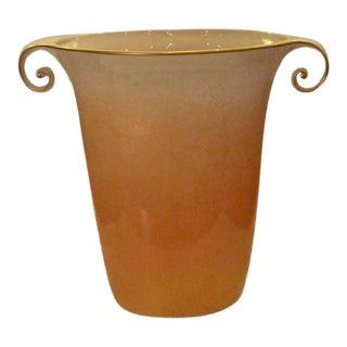 1980s Vintage Sculptural Mangani Porcelain Vase For Sale