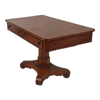 1825 George IV Mahogany Writing Desk For Sale