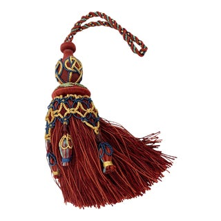 Houles of Paris Passmenterie Hand Tied Tassel in Rouge For Sale