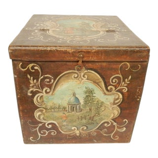 19th Century Italian Painted Scenes on Herb Box For Sale