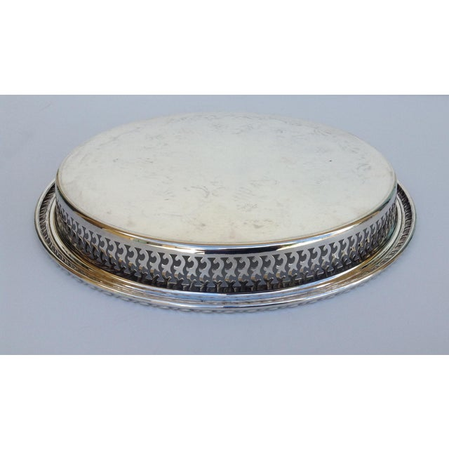 Silverplate Pierced Large Celtic Server Tray or Platter For Sale - Image 9 of 10