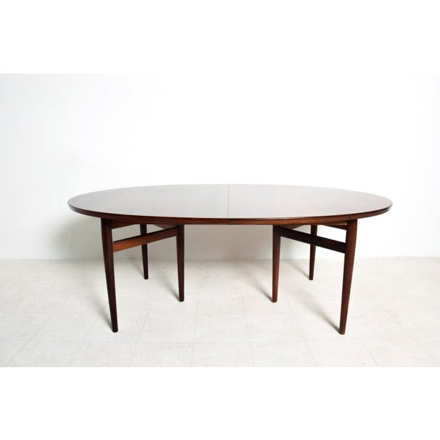 Mid-Century Danish Modern Rosewood Oval Dining Table by Arne Vodder for Sibast For Sale - Image 9 of 9