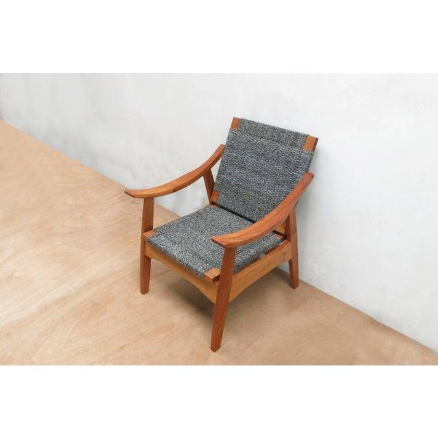 Handwoven Granito and Royal Mahogany Izapa Arm Chair - Image 6 of 6