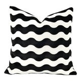 "Image of F. Schumacher ""The Wave"" Black Velvet Pillow Cover - 20"" X 20"" For Sale"