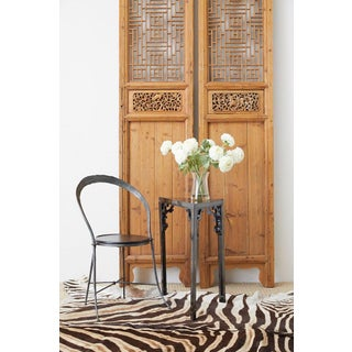 Pair of Chinese Carved Doors With Lattice Windows Preview