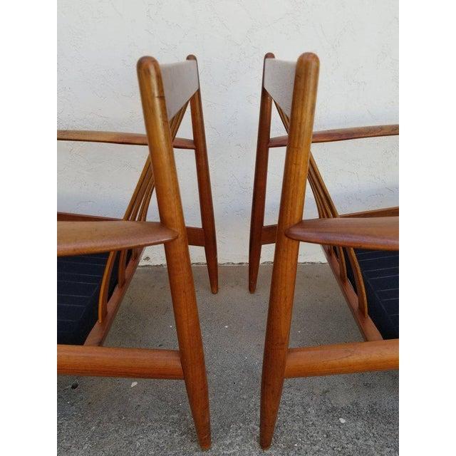 Grete Jalk Grete Jalk for France & Daverkosen Teak Lounge Chairs - A Pair For Sale - Image 4 of 13