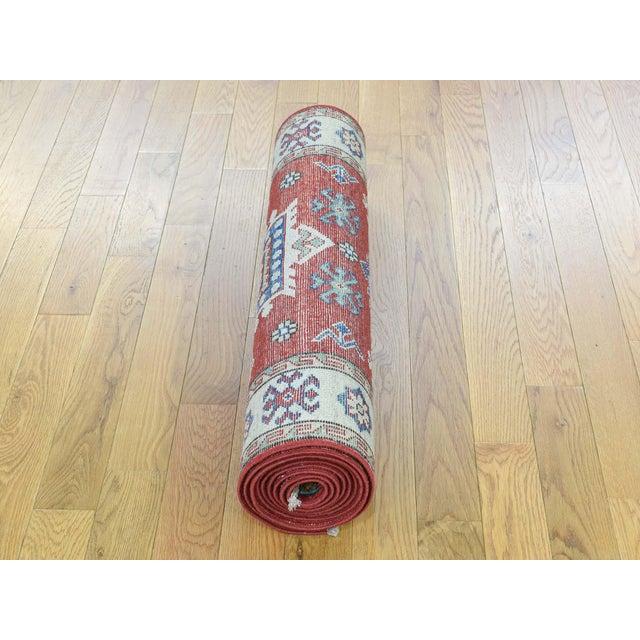 Wool Handmade Tribal Design Kazak Runner- 2′8″ × 9′9″ For Sale - Image 11 of 12