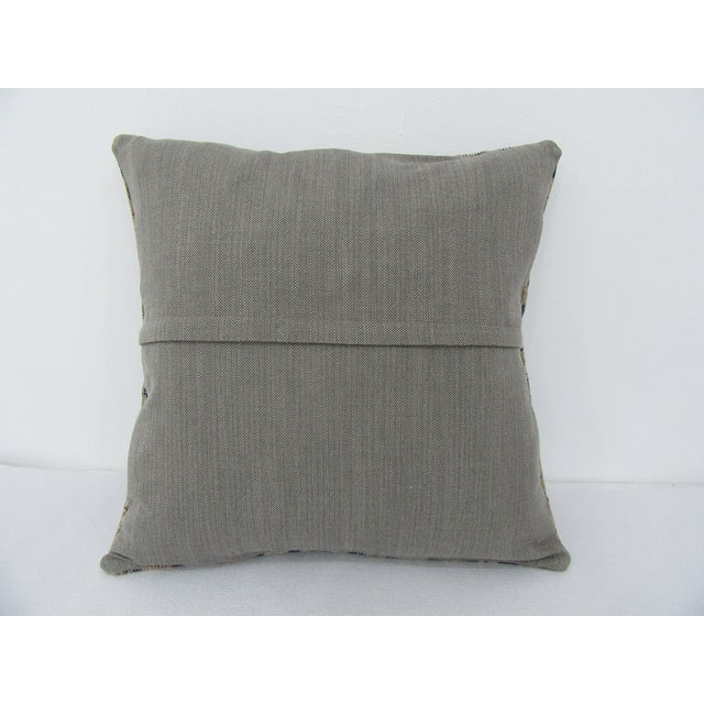 Turkish Vintage Turkish Navy Pillow Cover For Sale - Image 3 of 4