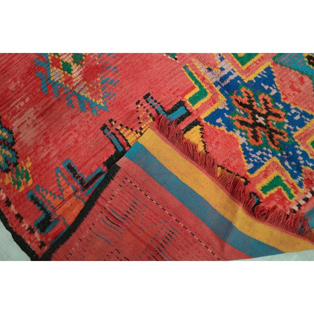 Islamic 1940s Vintage Moroccan Rug - 5′3″ × 10′7″ For Sale - Image 3 of 5