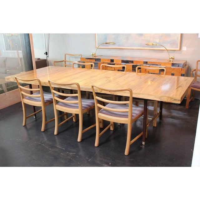 Mid-Century Modern Set of Eight Dining Chairs by Edward Wormley for Dunbar For Sale - Image 3 of 10