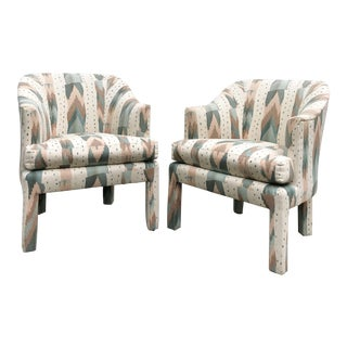 Clyde Pearson for Lane Upholstered Club Chairs - A Pair