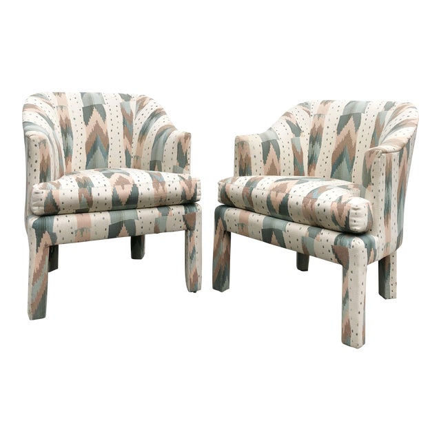 Clyde Pearson for Lane Upholstered Club Chairs - A Pair For Sale