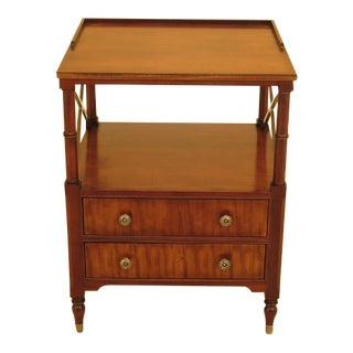 Vintage Ethan Allen 2 Drawer Mahogany Side Table