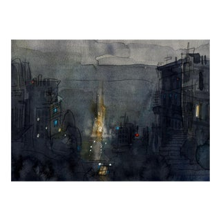Fine Art Giclee Print Of San Francisco Hillside For Sale