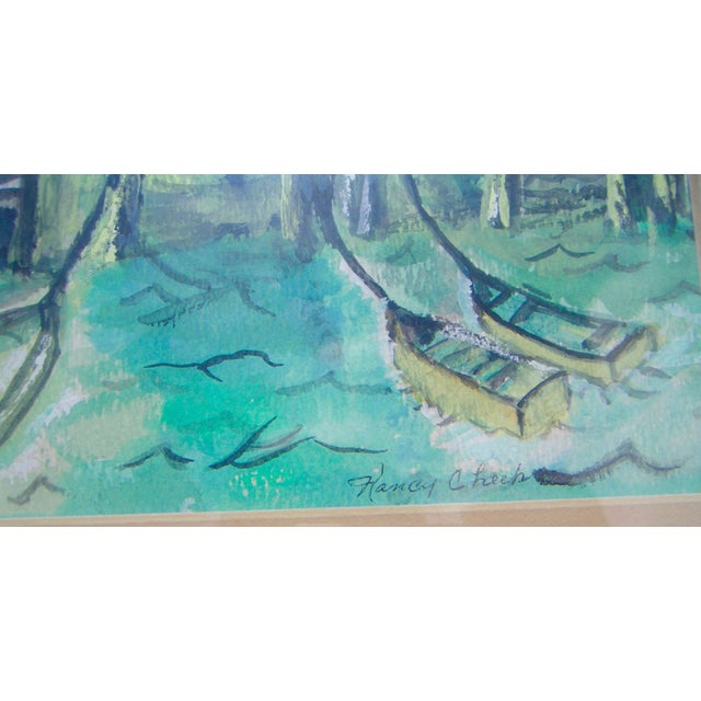 "Nancy Cheek ""California Delta"" Watercolor Painting For Sale - Image 4 of 4"