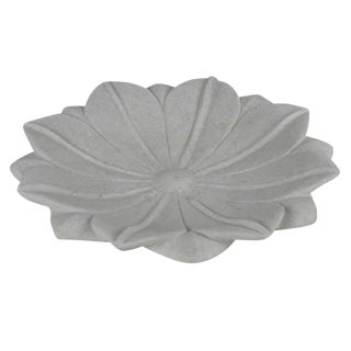 Blossoming Marble Lotus Plate For Sale